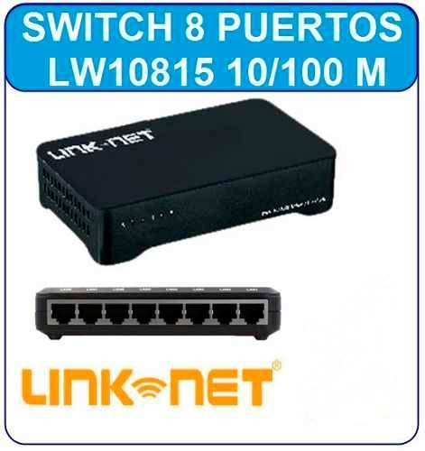 Switch 8 Puertos  Rj45 Internet Pc Modem Red Router