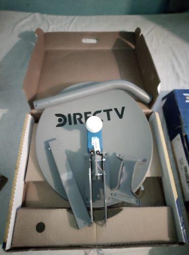 Antena Directv Usada Foco Lente Lnb Azul Hd Dualcoaxial 29$