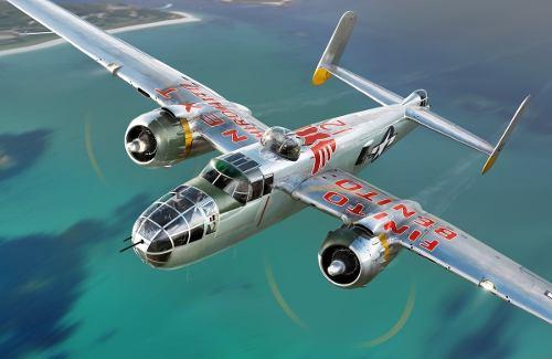 Avion A Escala 1/48 B 25 J Mitchell Bombardero 2ww