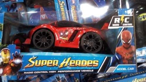Carro Control Remoto Regalo Para Niño Hombre Araña