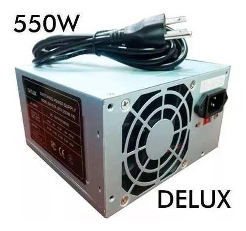 Fuente De Poder 550 Watts Atx Marca Delux Computador