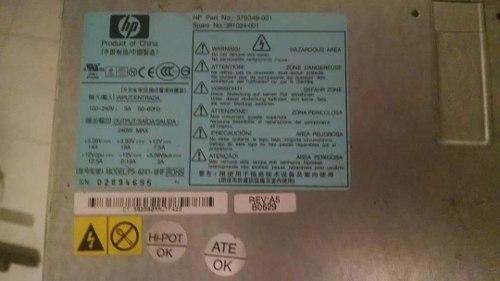 Fuente De Poder Para Pc Hp Modelo Ps-hf Certificada