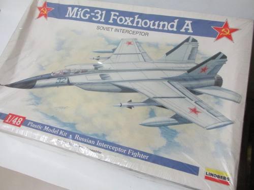 Mig-31 Foxhound A Plástico 1/48 Lindberg Usa