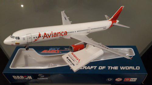 Avión A Escala A321 Avianca Marca Skymarks 1:150