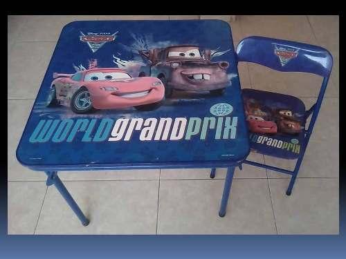 Mesa Y Silla Cars De Disney