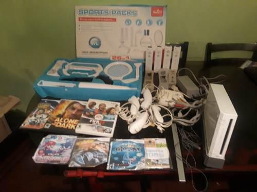 Rematando Nintendo Wii, Chipiado, Con Accesorios Y Juegos
