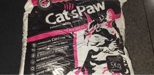 Arena Para Gatos Lecho Sanitario Cats Paw 5 Kg 100% Original