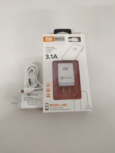Cargador Xiaomi Carga Rápida Cable Micro Usb 3.0