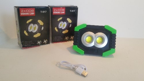 Linterna Led Recargable Solar Y Cable Usb, 2×1 `