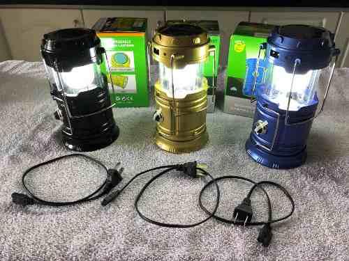 Lámparas Linterna Led Recargables, Panel Solar Para Camping