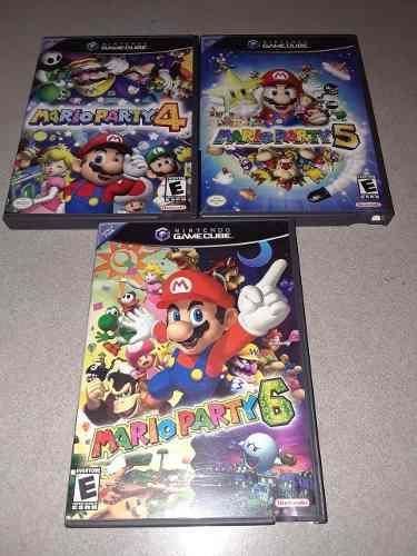 Mario Party 4 5 6 / Nintendo Gamecube Wii