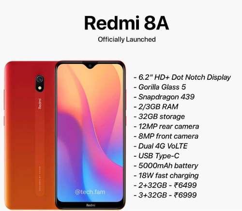 Xiomi Redmi 8a 3gb De Ram 32 Gb Pantalla mah Bateria