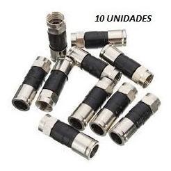 10 Conectores Rg6 De Compresion, Ppc Made In Usa