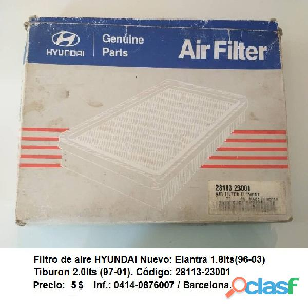 Filtro de Aire – Hyundai Elantra 1.8lts (96 03)