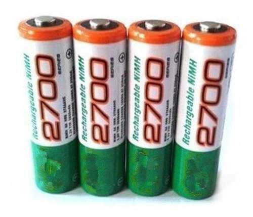 Pilas Baterias Gp Recargables Doble Aa De 2700 Lara
