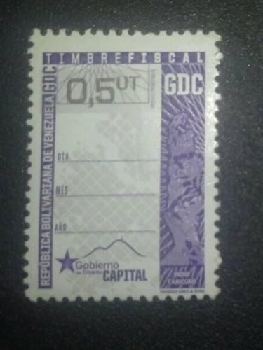 Timbres Fiscales /estampillas 0.5 Distrito Capital Gtu 5 Vds