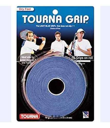Grip Para Raqueta De Tennis Marca Tourna. Color Azul.