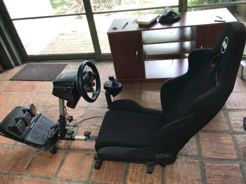 Silla Simulador De Manejo Ps4 + Volante Logitech