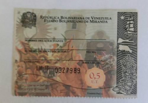 Timbre Fiscal De 0.5 Ut. Nueva