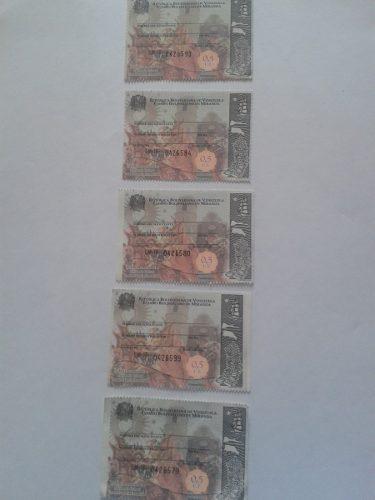 Timbre Fiscal Estampilla 0,5 U.t. Miranda