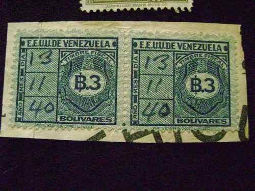 Timbres Fiscales (combo) Venezuela Para Coleccionistas