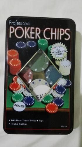 Juego 100 Fichas De Póker