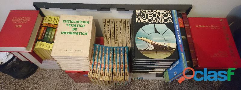 Vendo lote de enciclopedias y libros universitarios