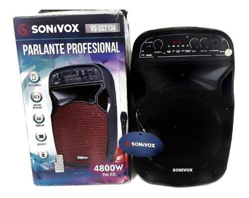 Corneta Amplificada Portátil Con Bluetooth, Kareoke Sonivox