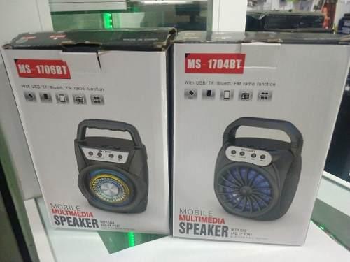 Corneta Speaker Pequeña Bluetooth Usb Sd Nueva Luces