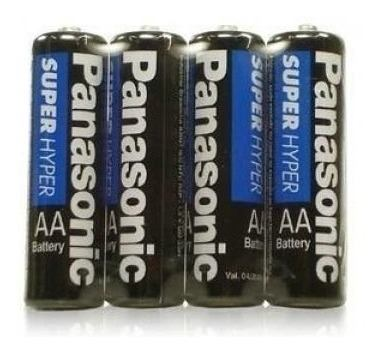 Pilas Bateria Doble Aa Panasonic Paquete De 4 Unidades