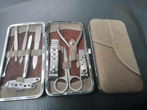 Juego Kit Set 10 Piezas Manicure Pedicure Acero Inoxidable