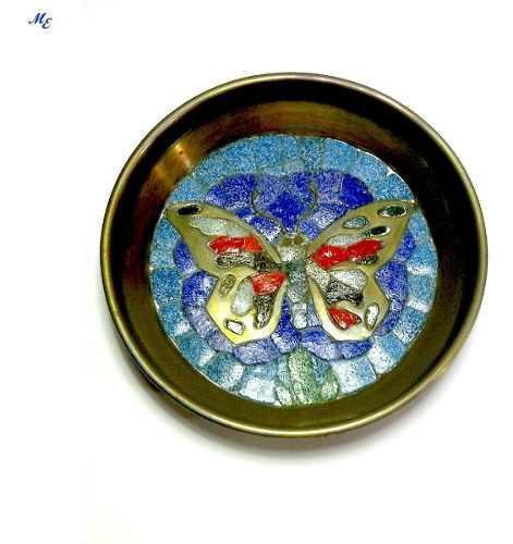 Plato Decorativo De Bronce