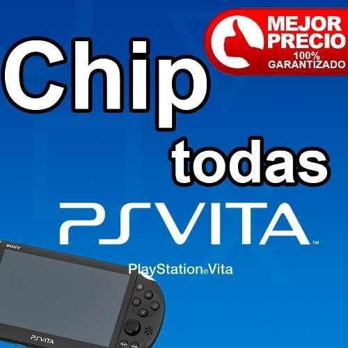Chipeo/chip Virtual D Psvita+juegos Para Todas Las Versiones
