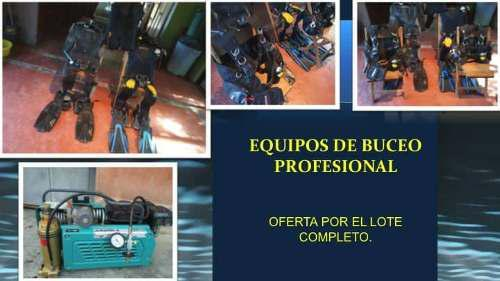 Equipo De Buceo Profesional, Lote Completo