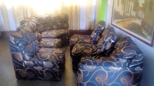 Muebles Tapizados Tela Importada Siete Piezas (negociable)