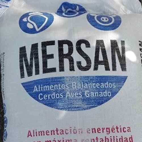 Alimento Concentrado Para Animales Saco De 40k Marca Mersan