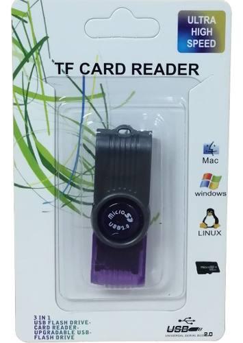 Adaptador De Memoria Micro Sd Card Reader Tipo Pendrive