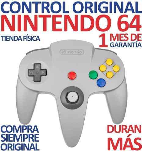 Control Original Nintendo 64 Color Gris Classic (20v)