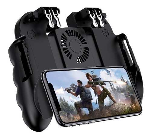 Gamepad Control Para Móviles 4 Gatillos, Fan Cooler,