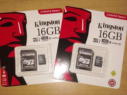 Memoria Micro Sd 16gb Clase 10 Kingston (7 Vds)