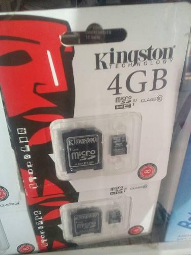 Memoria Micro Sd De 4gb Kingston Con Su Adaptador