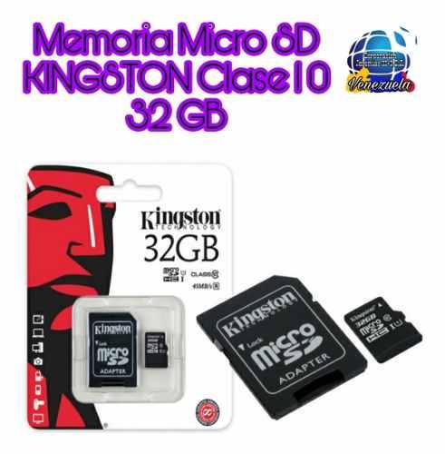 Memoria Micro Sd Marca Kingston 32gb/clase 10/ Select Hd