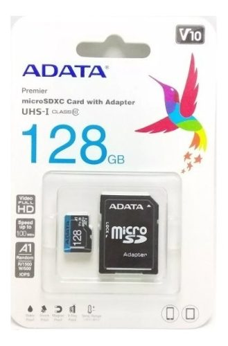 Memoria Microsd 128gb Adata Clase )