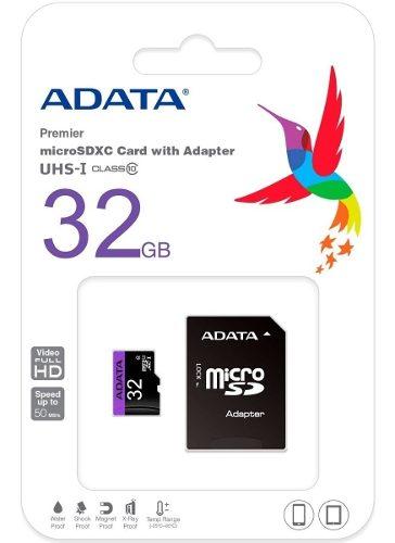 Tarjeta Memoria Micro Sd 32 Gb Clase 10 Full Hd (10dlres...)
