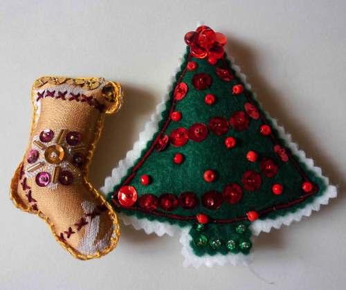 2 X 1 Bellos Imanes Para La Nevera Arbol Y Bota Para Navidad