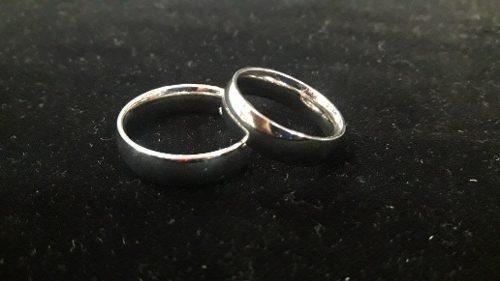 Aros De Matrimonio Lisos En Plata
