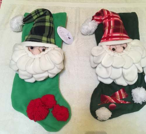 Hermoso Santa Claus Con Bota Para Colgar
