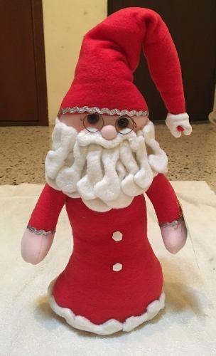 Hermoso Santa Claus Pie Con Bota 50 Cm Alto