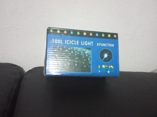Luces De Cascada Color Lila 100 Luces