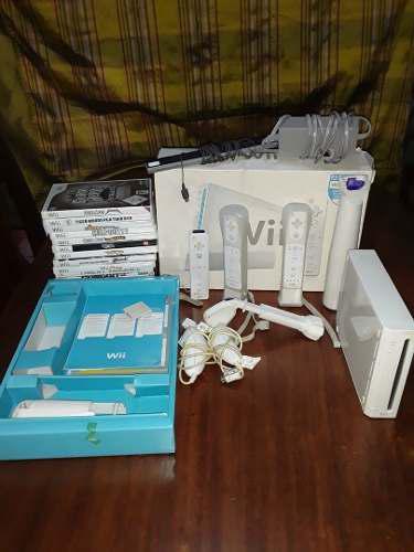 Nintendo Wii Con Accesorios Y Juegos Originales